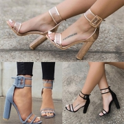 Fashion Thick High-heeled Open Toe Transparent Sandals