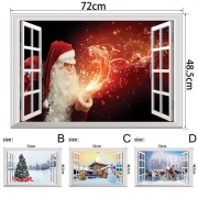 Cute Style 3D Christmas Wall Sticker