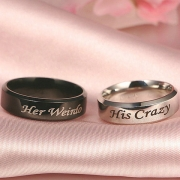 Fashion Letters Engraved Couple Ring