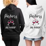 Partners in Wine-Besties Hoodie