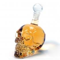 Fantastic Crystal Design Head Vodka Skull Face Bone Glass Bottle Decanter Empty Bar Line 350ML