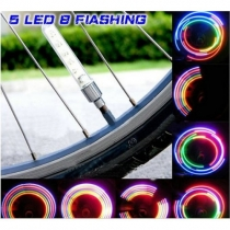 Colorful LED Lights Bicycle Air Wheel Valve Lamp