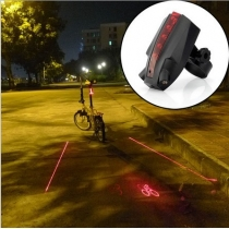 LED Bicycle Laser Taillight Bike Rear Light Logo Projection