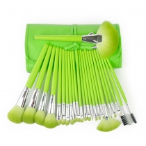 Professional 24 pcs Comestic Makeup Brushes Set with Candy Color Case