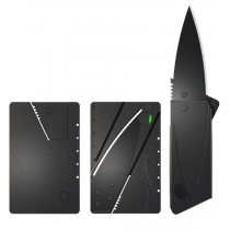 Credit Card Sized Folding Knife (Black Blade)