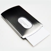 Stainless Steel Wallet Business Name Credit ID Card Holder Case
