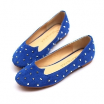Cool Chic Cat Studded Rivets Slip On Loafers Flat Shoes