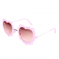 Metallic Cut Out Love Heart Frame Anti UV Sunglasses Shades