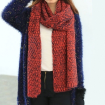 Latest Sweet Cute Mixing Color Warm Scarf
