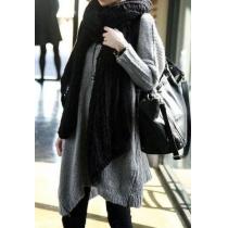 Warm Elegant Pure Color Mohair Women's Open Knit Scarf