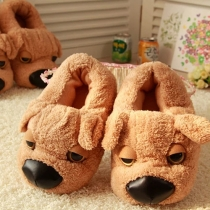Cute Cartoon Shar Pei Shaped Warm Slippers for Lovers