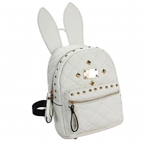 Cute Rabbit Ears Rivets Backpack