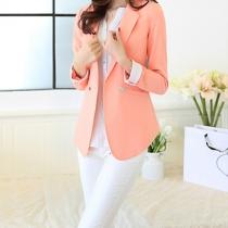 Fashion Double-breasted Long-sleeved Blazer Jacket Coat