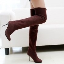 Fashion Round Toe Stiletto Over The Knee Boots