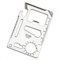 Function Credit Card Size Survival Pocket Tool with Keyring