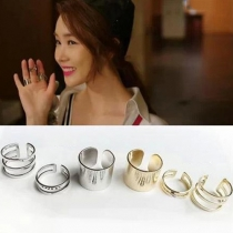 Gold-tone/Silver-tone Rings 3 Pcs 1 Set