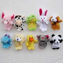 Cute Plush Toys Cartoon Animal Family Finger Puppets
