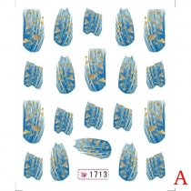 Fashion Feather Nail Art Water Transfer Nail Sticker