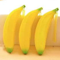 Creative Style Banana Shaped Silicone Coin Purse