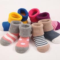 Cute Style Contrast Color Kids Socks (Color Random)