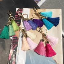 Fashion Colorful Tassel Pendant Keychain