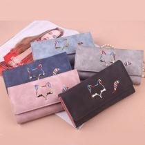 Cute Style Little Fox Pattern Three-fold Wallet