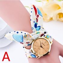Fashion Child-free Cloth Strap Watches Geneva Ladies Bracelet Wrist Watch