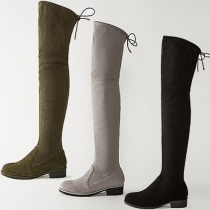 Fashion Pointed Toe Flat Heel Over The Knee Boots