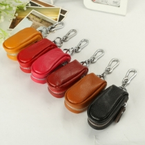 Fashion Solid Color Multifunction Zipper Key Wallet