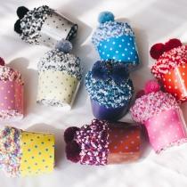 Fashion Mixed Color Hairball Spliced Socks