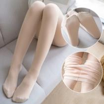Fashion High Waist Plush Lining Stretch Socks Leggings