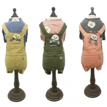 Cute Cartoon Spliced Overalls for Pets