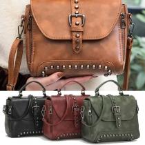 Retro Style Rivets Handbag Shoulder Messenger Bag