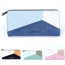 Fashion Contrast Color Long-style Wallet