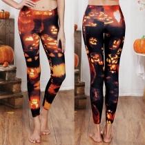 Chic Style High Waist Printed Leggings