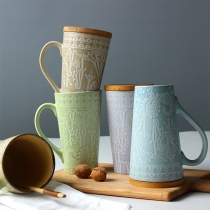 Chic Style Relief Pattern Imitation Ceramic Mug (without Cover)