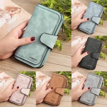 Fashion Solid Color Multifunctional Wallet Clutch
