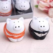 Cute Cartoon Pig Shaped Seasoning Cans