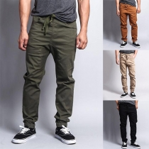 Fashion Solid Color Relaxed-fit Man's Pants