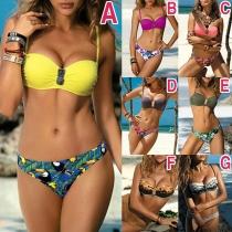 Sexy Low-waist Printed Bikini Set