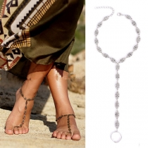 Bohemian Style Hollow Out Carving Anklet