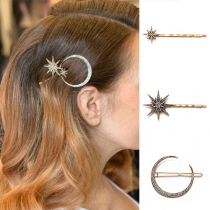 Retro Style Rhinestone Inlaid Hair Pin Set 3 pcs/Set