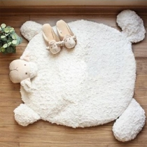 Cute Style Sheep Shaped Plush Mat