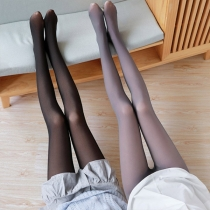 Fashion High Waist Plush Lining Stockings Pantyhose