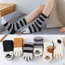 Cute Cartoon Printed Plush Socks