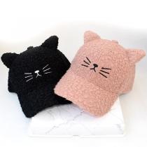 Cute Style Cat's Ear Shaped Plush Cap
