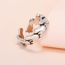 Creative Style Footprint Shaped Open Ring