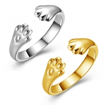 Creative Style Cat Claw Shaped Open Ring