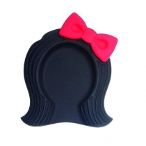 Creative Style Bow-knot Girl Shape Soup Ladle Pad Insulation Mat