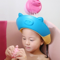 Cute Style Pig-shape Multifunctional Silicone Shampoo Cap for Kids